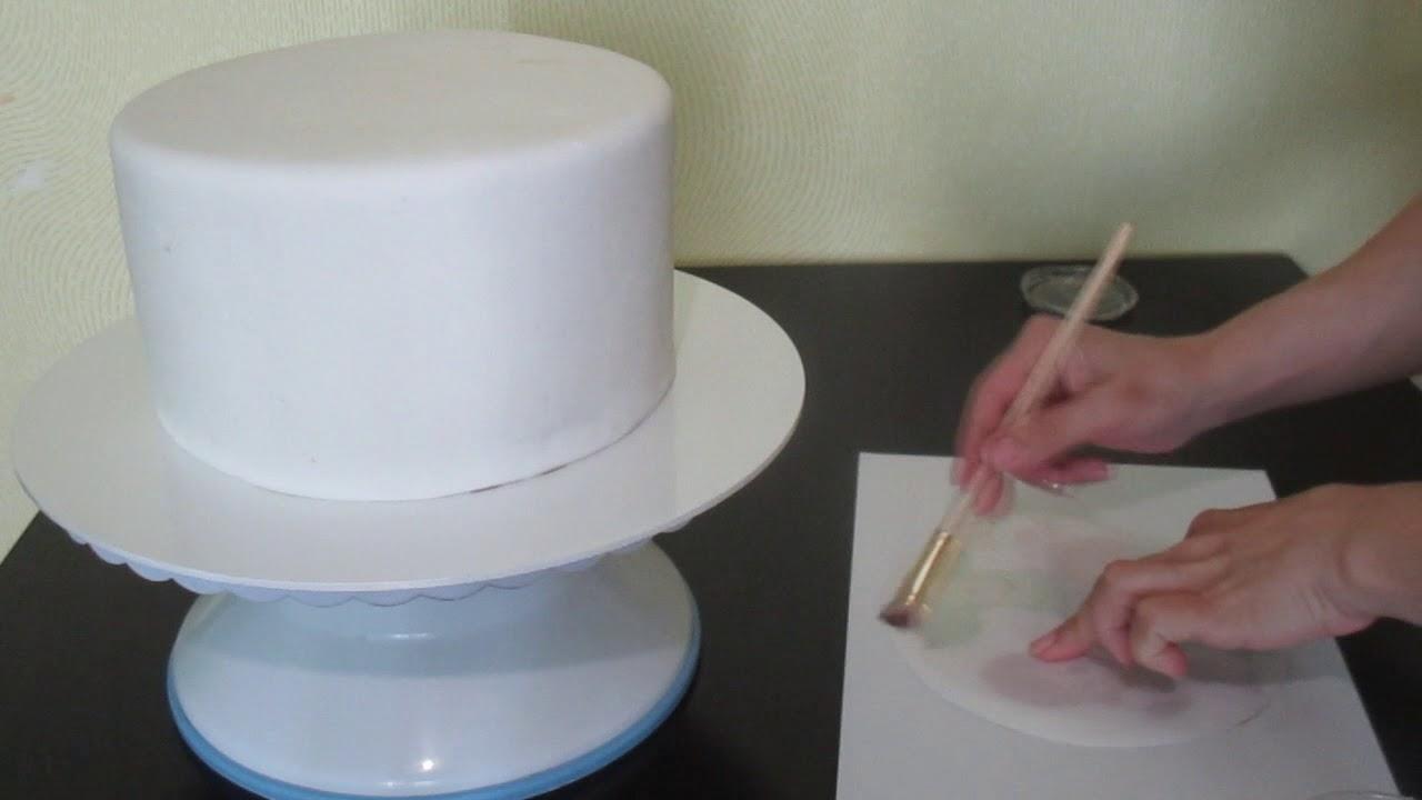 Ням, чем покрыть сахарную картинку для торта