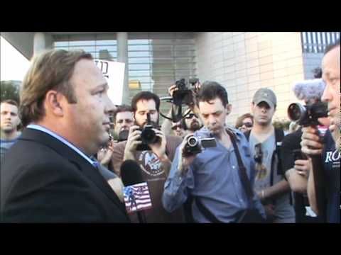 Federal Reserve Bank in Dallas with Alex Jones 10/7/11