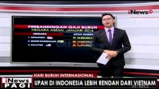 Upah Layak Buruh, Indonesia Urutan ke-8 di ASEAN