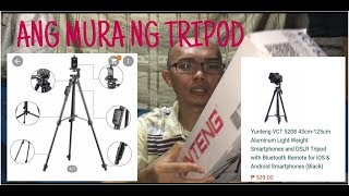 YunTeng VCT-5208 43cm Tripod with Bluetooth Remote Control Unboxing Review