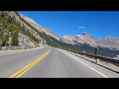 Lake Louise to Jasper. Icefields Parkway motorcycle ride