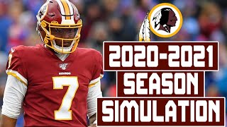 Washington Redskins 2020-2021 Season Simulation (Madden with Updated Rosters)