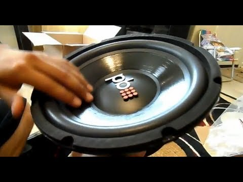 Powerbass 10 in sub Unboxing and Ported Box Build