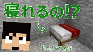 【カズクラ】検証!奇跡のめり込んだベッドで寝れるのか!?マイクラ実況 PART802