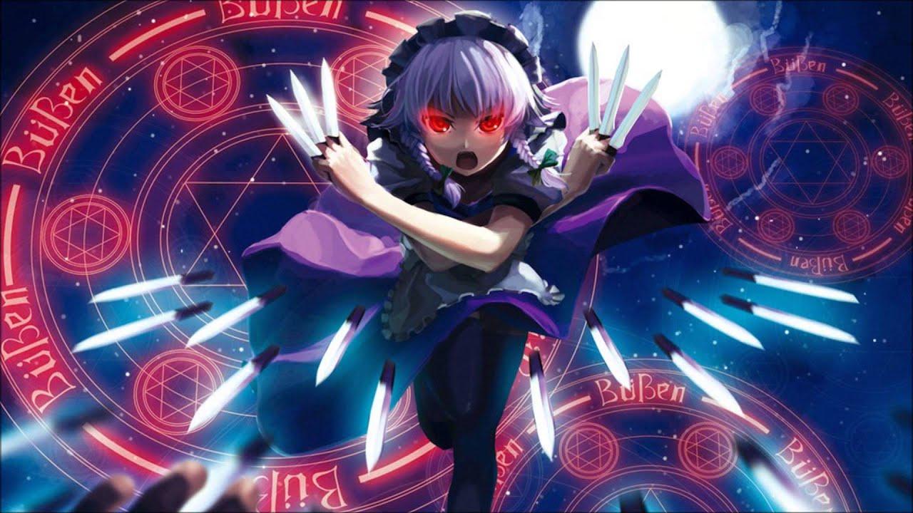 Badass Game Girl Wallpaper Touhou Sakuya S Theme Flowering Night Remix Youtube