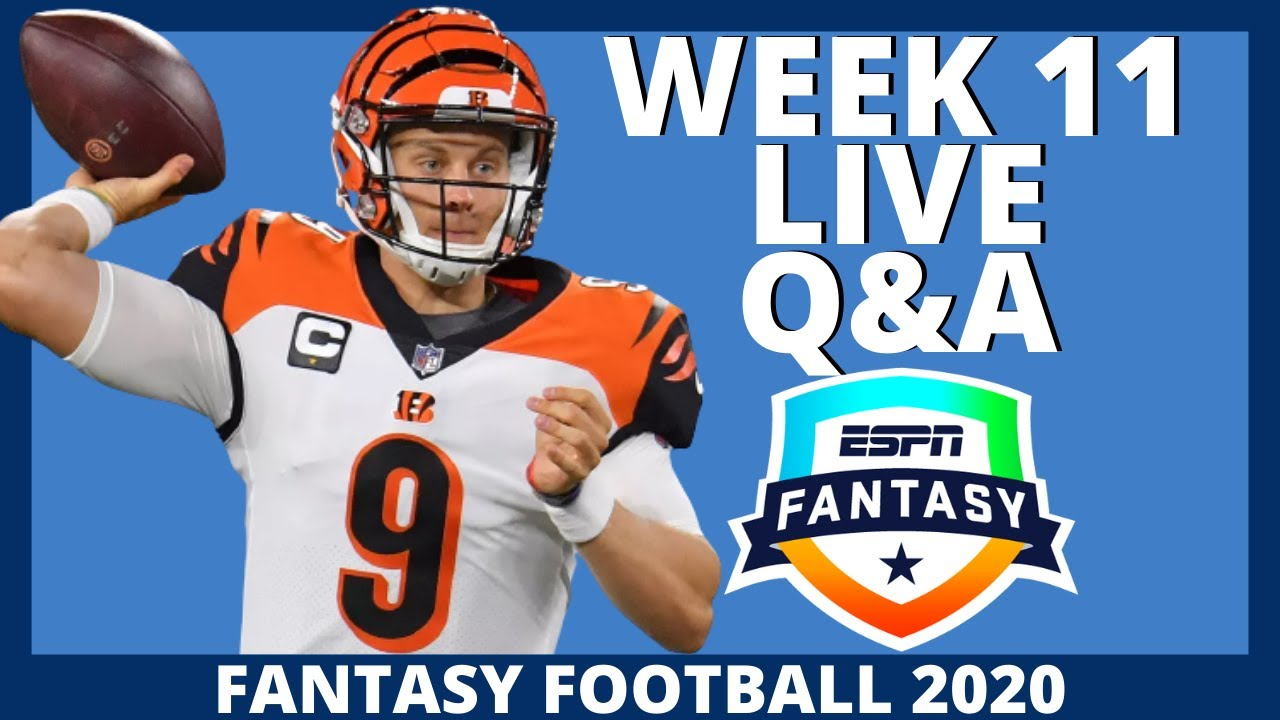 2020 Fantasy Football - Week 11 Live Q&A - Fantasy Football Advice