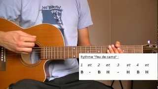 Cours de Guitare débutant : Rythme Feu de camp