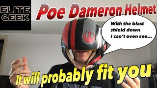 Poe Dameron Black Series Helmet Unboxing and Review One Size Fits All?