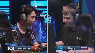 Lyn (O) vs Happy (UD) WarCraft Gold League Summer 2019 (Miker) MUST SEE