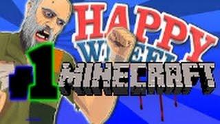 Happy Wheels #1 | Probando niveles de Minecraft!!! | Minijuegos.com