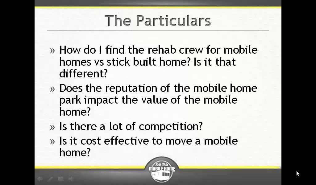 Mobile home investing does the mobile home park - Modular home resale value ...