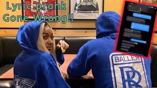 LYRIC PRANK ON MY BOYFRIEND!!