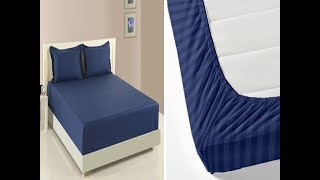 DIY elastic bed sheet / fitted bed sheet with normal sheet cutting & stitching Malayalam