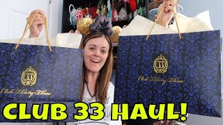 Club 33 Merchandise Haul!!! - Disneyland 2019 - Magical Mondays #99