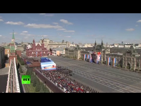 Morning rehearsal for Moscow Victory Day Parade (streamed live)