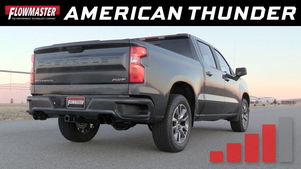 2019 20 gm silverado sierra 1500 5 3l american thunder cat back exhaust system 817895