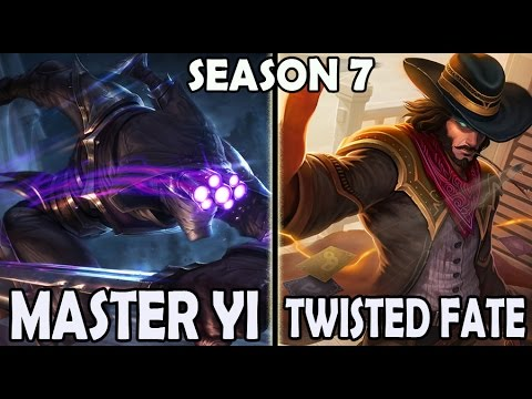 Best Master Yi Korea vs Twisted Fate MID Ranked Master