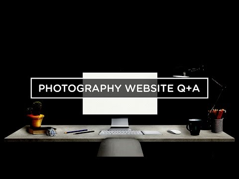 PHOTOGRAPHY WEBSITE Q&A