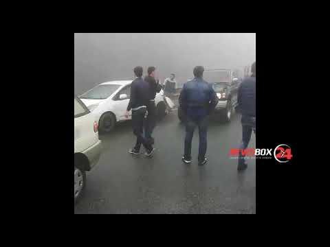 Более 30 автомобилей столкнулись на объездной во Владивостоке