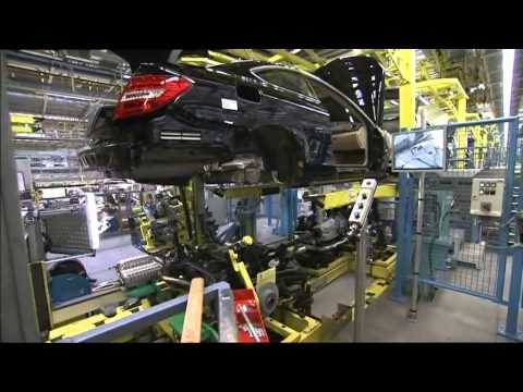 Production of the Mercedes-Benz C-Class at the plant in Bremen in Germany