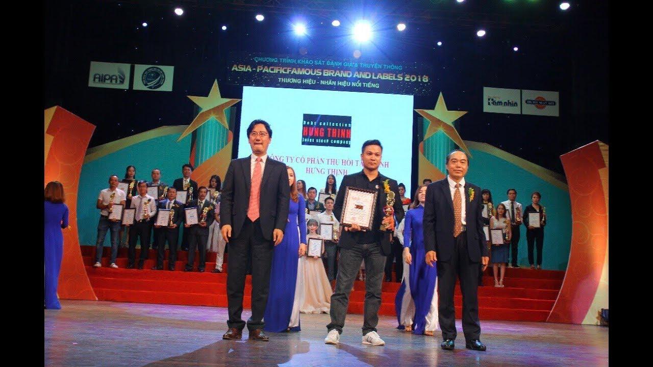 #đòinợ Đòi Nợ Hưng Thịnh nhận giải thưởng Thương Hiệu Uy Tín 2018 - YouTube