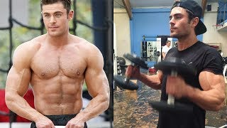 Zac Efron  Posing and Training 2018
