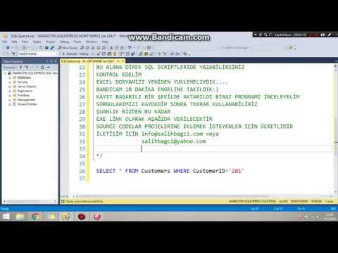 Delphi Excelden Sql'e Dosya Aktarımı/Delphi Sql Excel İmport 2