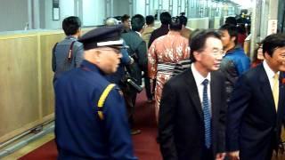 2011年11月27日(日)千秋楽、表彰式後、インタビューやらもろもろ終えて...