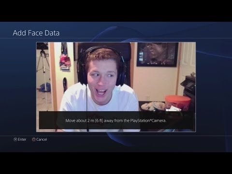 PLAYSTATION 4 - Facial Recognition, Set Up, Menu, and New Features! (PS4 Camera and XMB Gameplay)