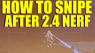 Destiny: How To Snipe After Patch 2.4.0 Flinch NERF (Destiny Tips & Tricks)