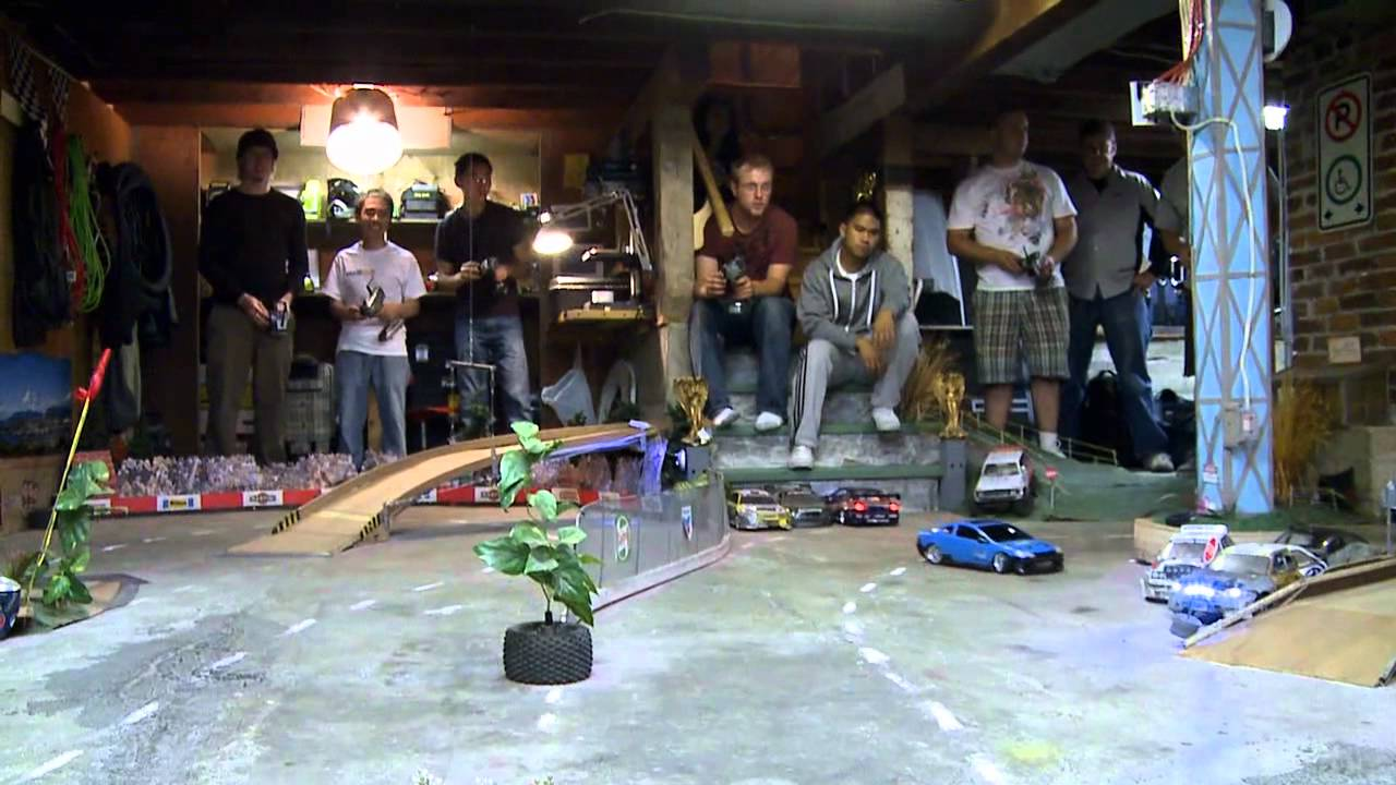 An Incredible Basement Rc Drift Track Rctv Youtube