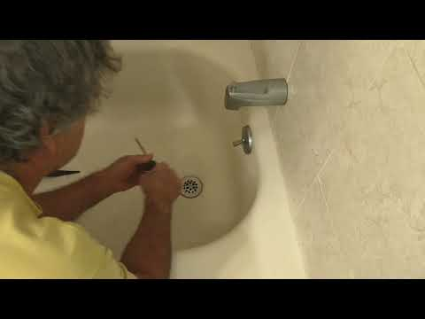 Clean out bathtub drain in minutes