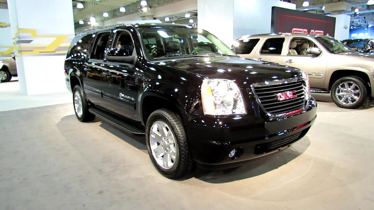 2012 gmc yukon xl 4wd slt exterior and interior at 2012 new york international auto show youtube
