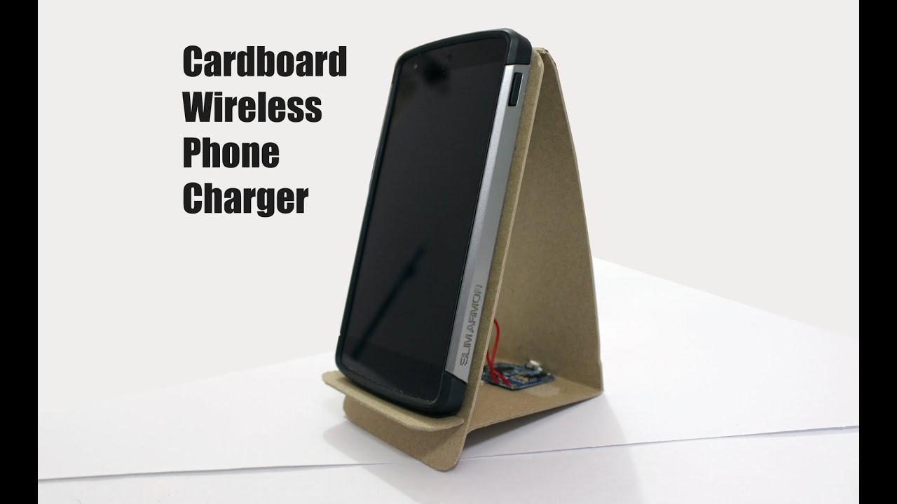 Cardboard Wireless Charging Stand Youtube