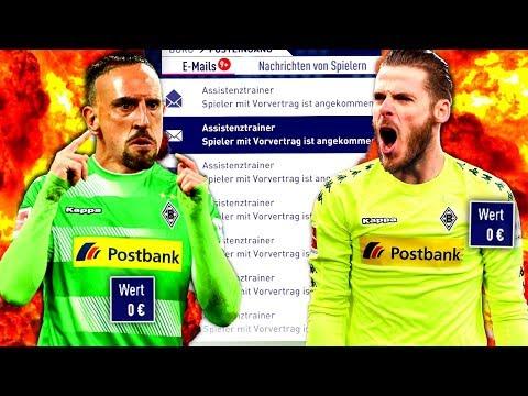FIFA 18 : NUR MIT VORVERTRÄGEN ZUM CHAMPIONS LEAGUE TITEL !!! 🏆😳 Gladbach Sprint To Glory