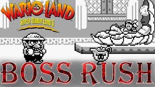 Wario Land: Super Mario Land 3 - Boss Rush (No Damage, No Power-Ups)