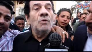 مظهر أبو النجا في جنازة سيد زيان تعلمنا منه حب الزملاء