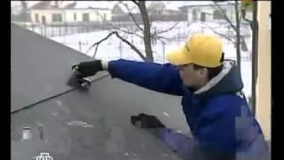 видео Как производится монтаж гибкой черепицы своими руками
