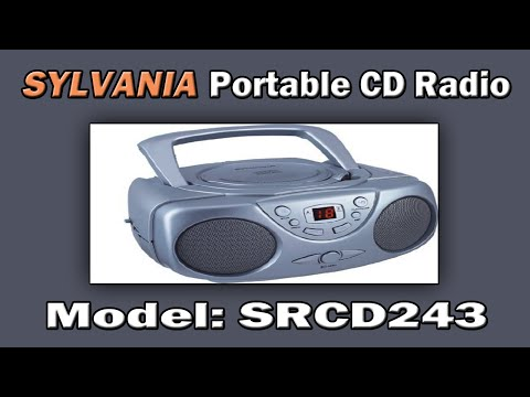 Sylvania Portable CD Radio (SRCD243) - Unboxing and Quality Test