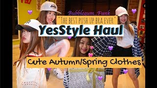 YesStyle.com Haul - Try On, Autumn/Spring Clothes and the best push up bra ever...