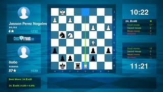 Chess Game Analysis: Jasson Perez Nogales - 0o0o : 1/2-1/2 (By ChessFriends.com)