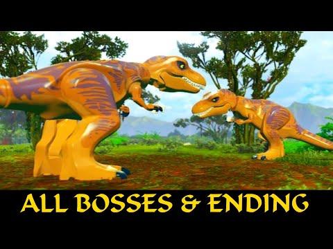 LEGO Jurassic World All Final Boss's & ENDINGS