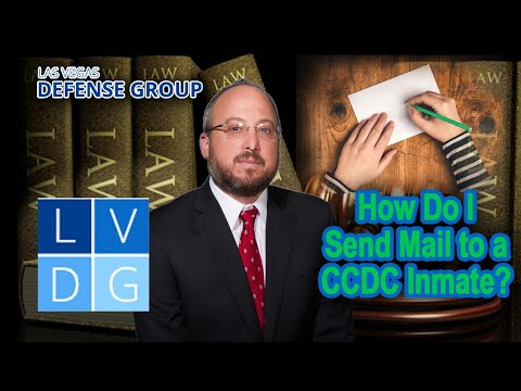 How do I send mail to an inmate at CCDC in Las Vegas, NV?
