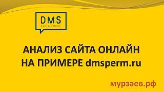 1. Анализ сайта онлайн на примере dmsperm.ru