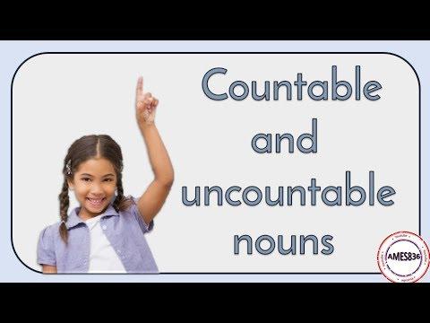 Countable And  Uncountable Nouns - English Language