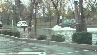 Flooding On Arthur Kill Rd. Staten Island - Hurricane Sandy