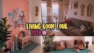 LIVING ROOM TOUR 2018 | Bali Inspired | Bohemian | Larissa Dsa