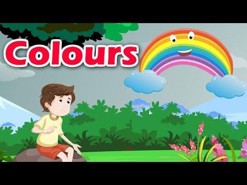 Colours | Colour Songs For Kids | English Nursery Rhyme With Lyrics | Kidda Junction
