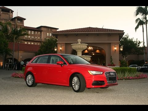 Charging the 2016 Audi A3 Sportback e-tron electric car