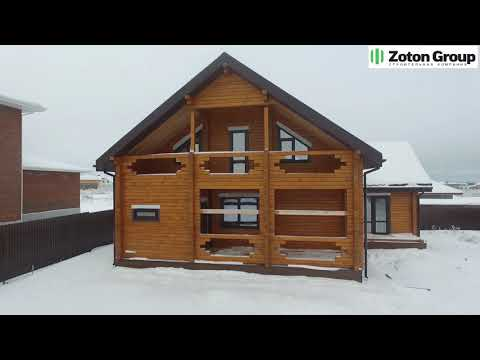 Гостевой дом из профилированного бруса в поселке Зеленые Холмы!